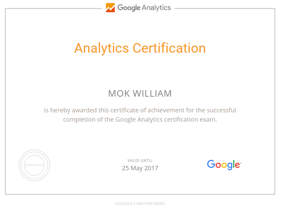 Google Analytics Individual Qualification (IQ)